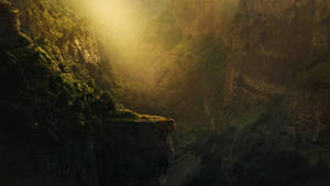 Silent canyon - premade background