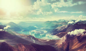 Dreamy landscape - premade backgroundstock