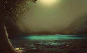 Mystic landscape - preamde background