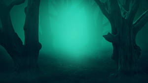 Misty mysterious forest - Premade background