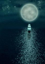 Sailing in moonlight