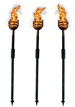 Torch of fire - PNG stock