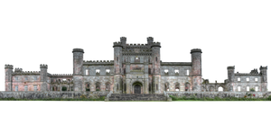 Lowther Castle ruin - PNG stock