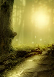 Magic forest - Premade background
