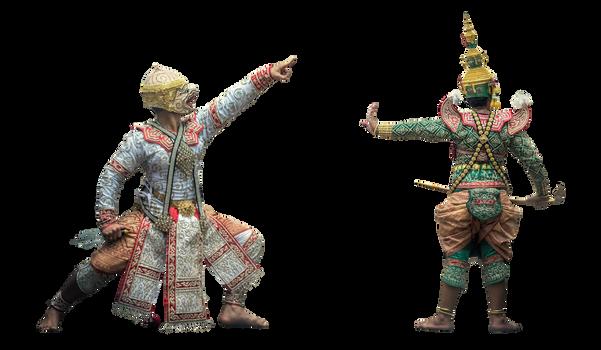 Thai actors in costume - pngstock