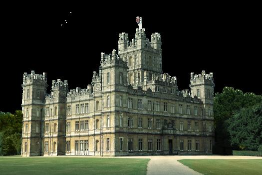 Highclere Castle - Downton Abbey - Transparent