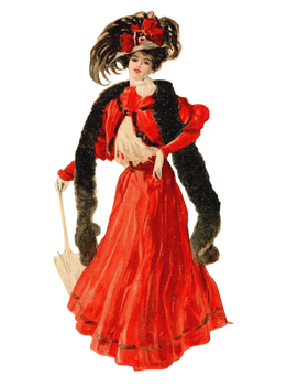Lady in red - PNG