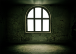 Green old empty room - PNG - CCO
