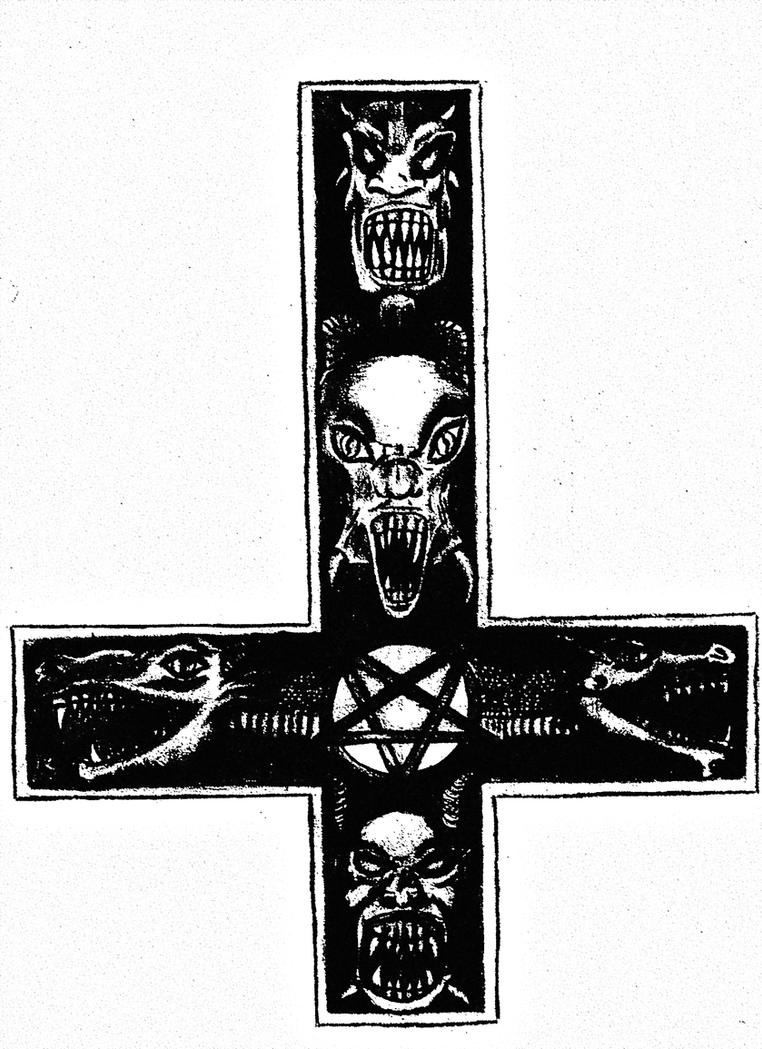 Demonic Inverted Cross By Skandinav666 On Deviantart