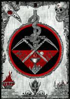 Chalice Of Blood Tapestry by Skandinav666