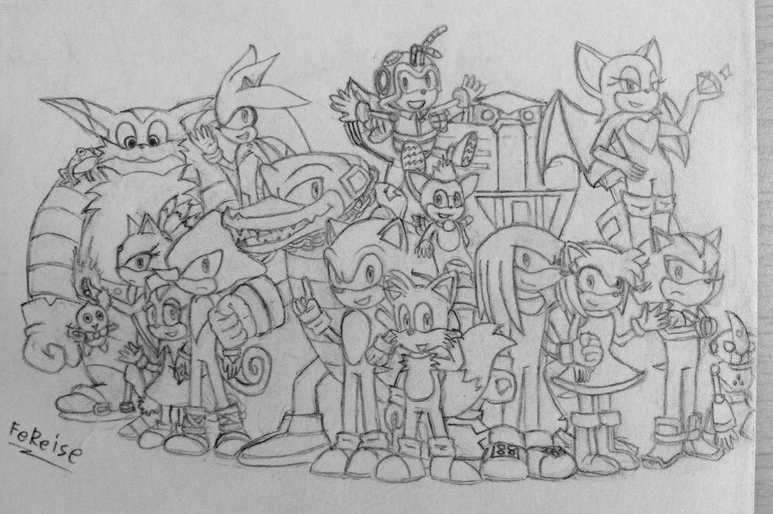 Sonic the Hedgehog and his friends (Sketch) by FeReise on ...