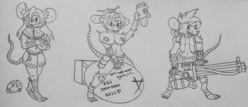 Sketch: SkyKain's Skaven gals #1