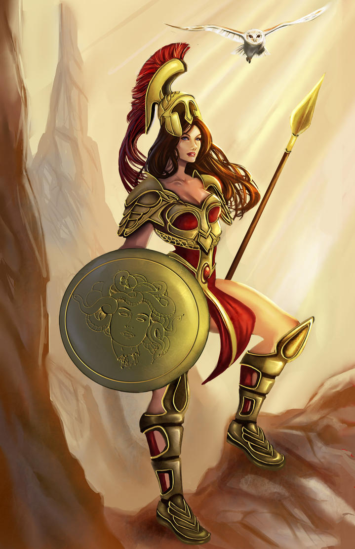 Athena: The Bringer of Wisdom by ArtCrawl