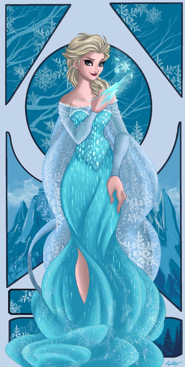 Frozen-Elsa by ArtCrawl