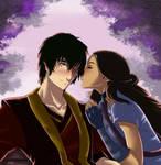 05 Kissing: Zutara