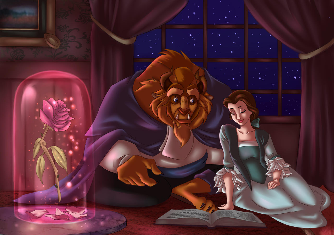 Beauty and the beast by artcrawl on deviantart