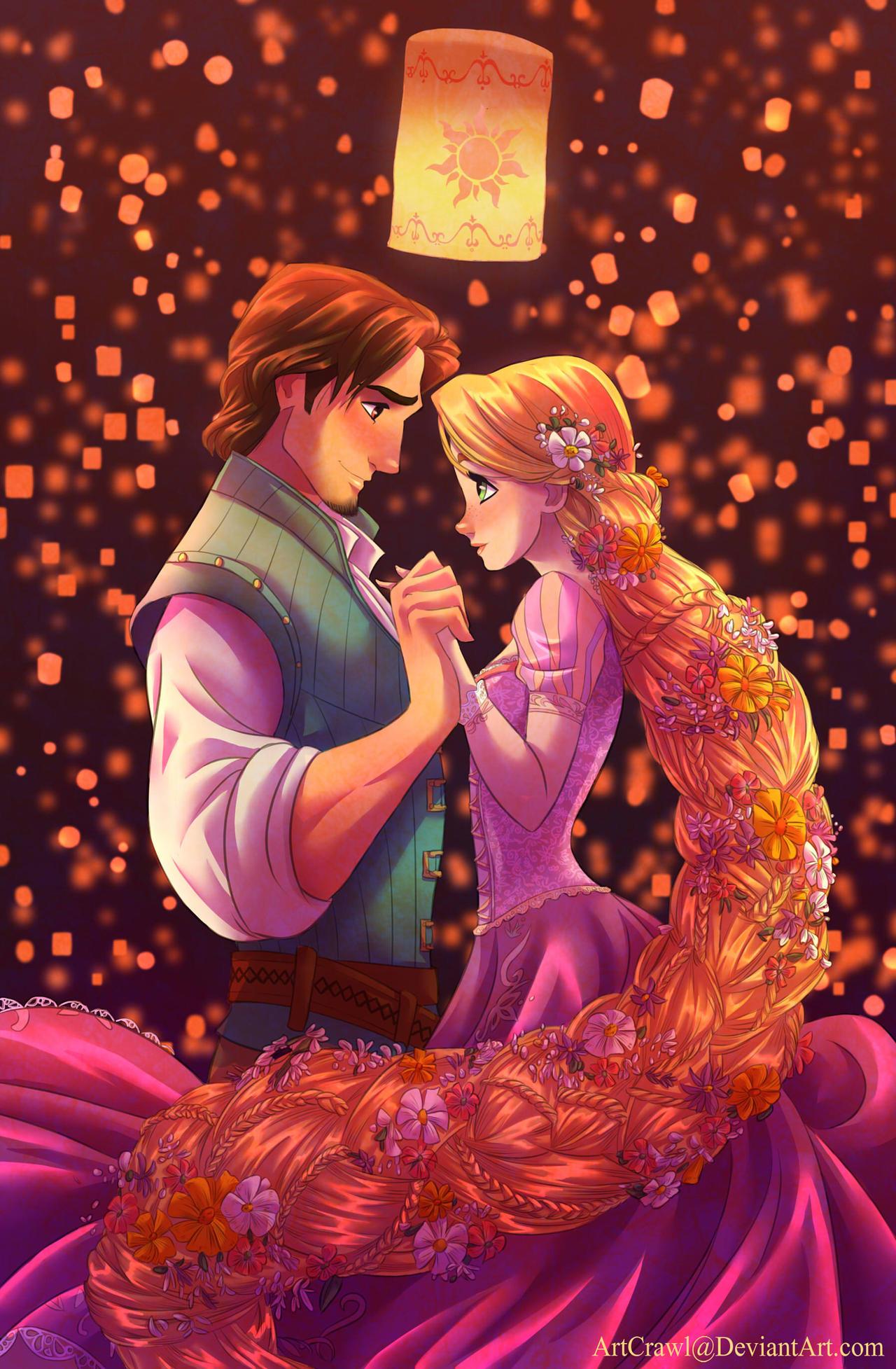 Rapunzel And Flynn By Artcrawl On Deviantart