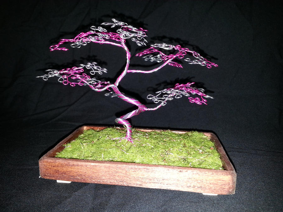 Breast Cancer Awareness Month Wire Tree by angelhitsground