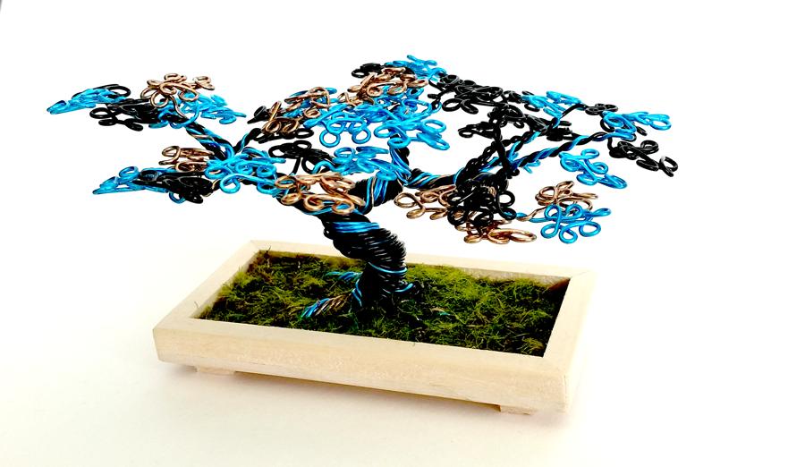 Multi-colored Wire Desktop Tree by angelhitsground