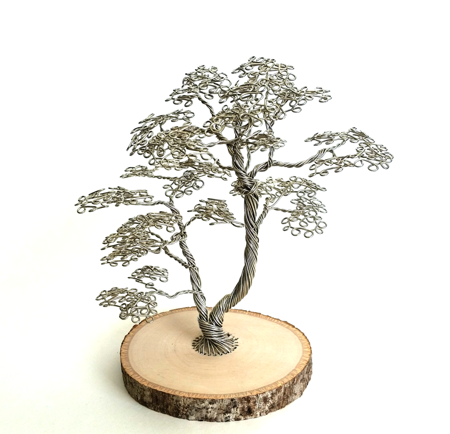 Steel Wire Desktop Tree by angelhitsground