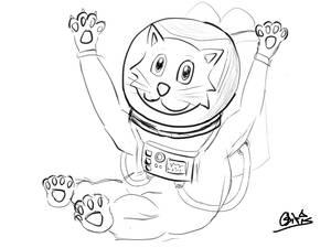 Spaceman Cat