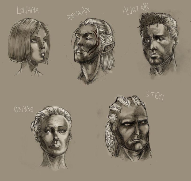 Dragon AGE: Origins FACES by ~Carromic on deviantART