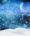 Magic Winter Night Premade background