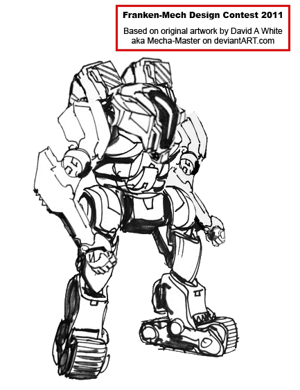 Franken Mech Contest Entry: Construction Mech by Tankman95