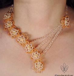 Peach blossom necklace N1040 by Fleur-de-Irk