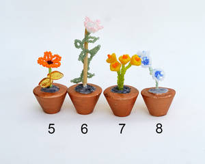 Potted flower miniatures O199-202