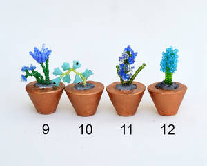 Potted flower miniatures O203-6