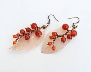 Autumn berries earrings E1467