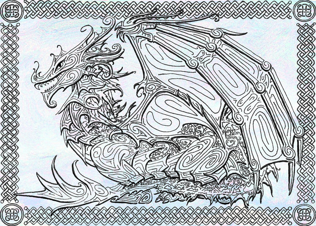 Ink Dragon by Shadowjewel
