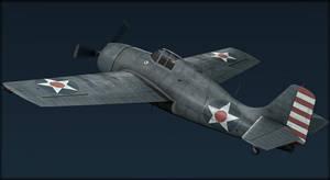 F4F Wildcat Low Poly