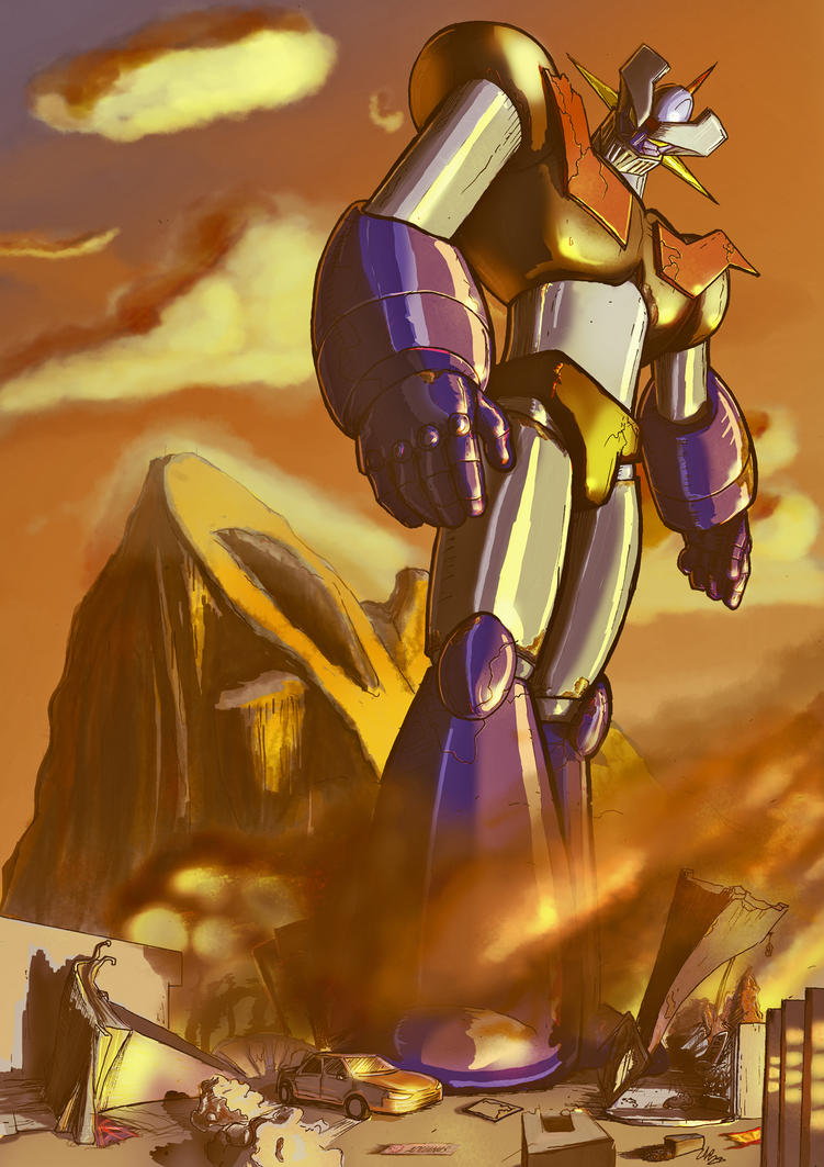 Mazinger Z in Gibraltar by 2WinGs2ZioN