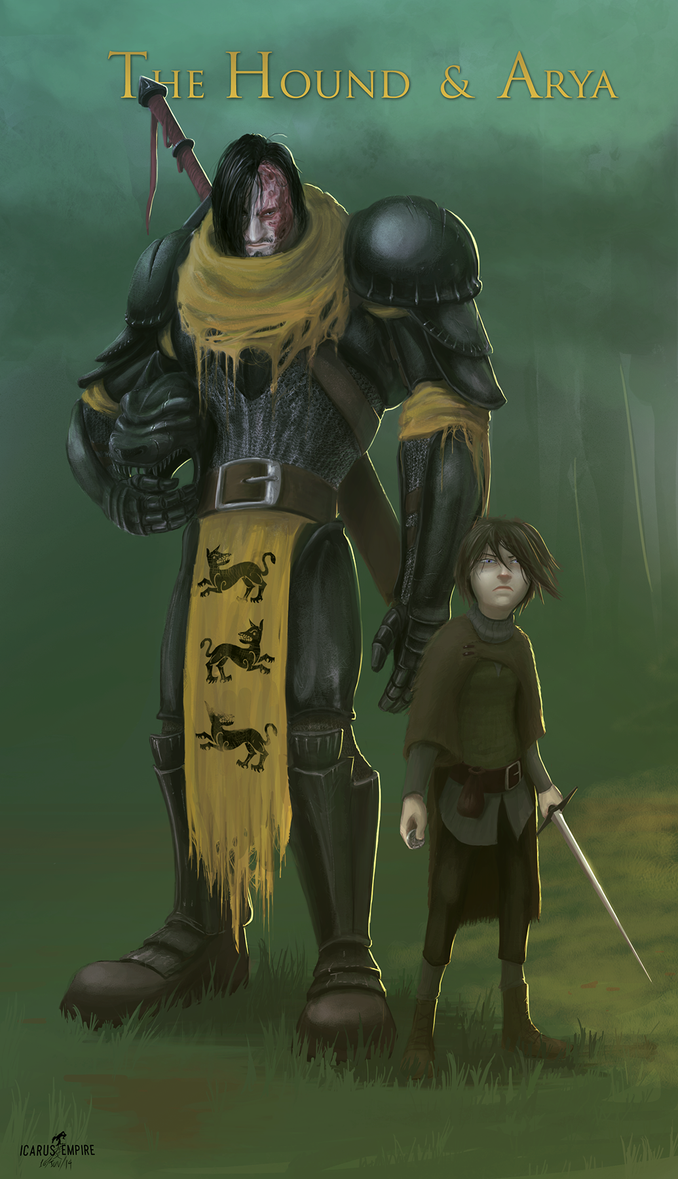 Arya and The Hound by 2WinGs2ZioN