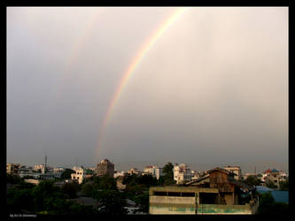 Rainbow over Mandalay
