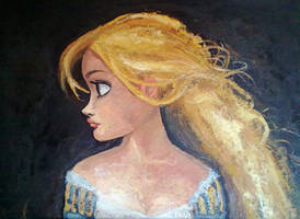 Rapunzel - 'Tangled' canvas by Arbetta