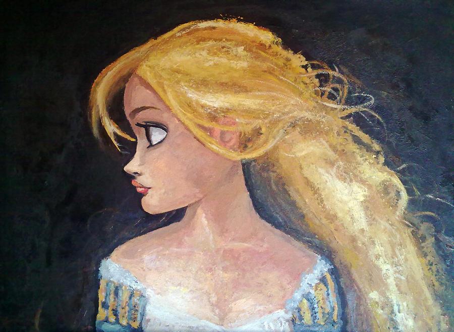 Rapunzel - 'Tangled' canvas by Arbetta