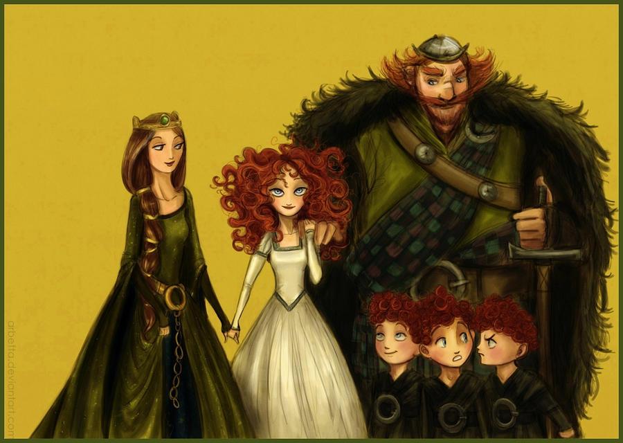 """Brave"" Family portrait by Arbetta"