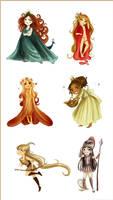 Six main chibi goddesses