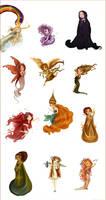 The twelve chibi goddesses left...