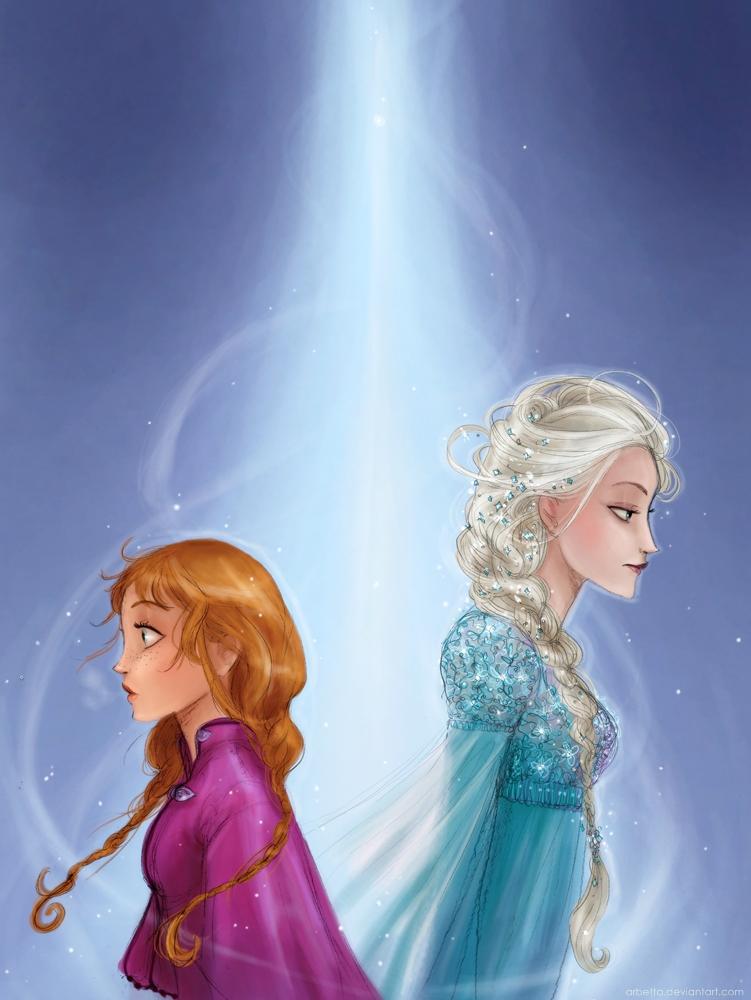 Anna and Elsa by Arbetta