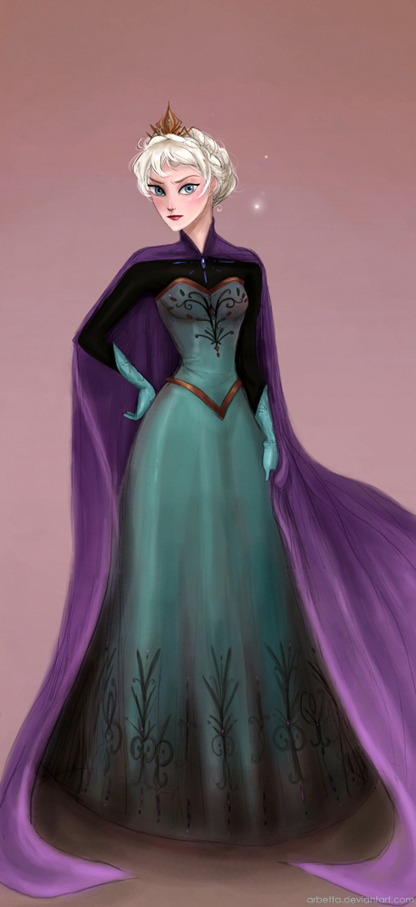 Crowned Elsa by Arbetta