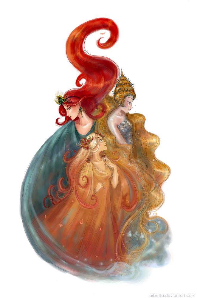 The Three Queens by Arbetta