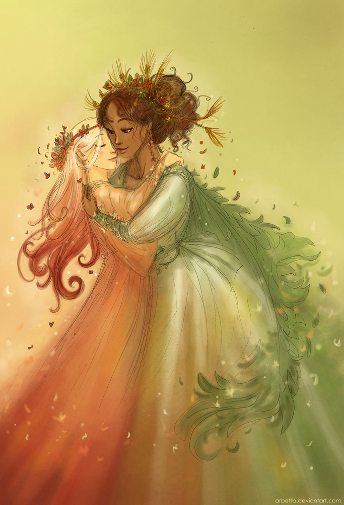 Demeter and Persephone by Arbetta