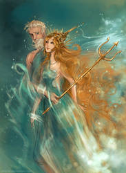 Poseidon and Amphitrite by Arbetta