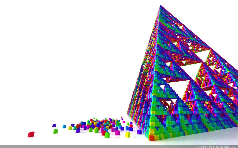 Lego + Sierpinski = Minimalista by evilskills