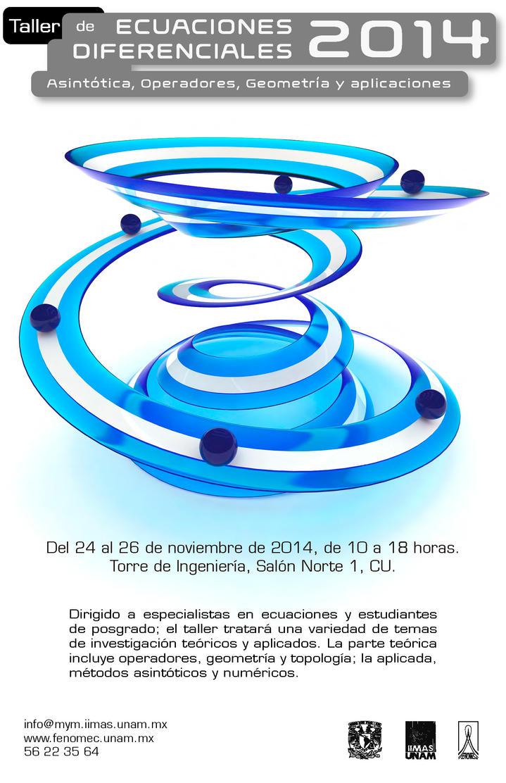 Poster Taller Ecuaciones Diferenciales 2014 by evilskills