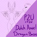 P2U + F2U  Dutch Angel Dragon Reference Sheet Base by huchzermeierm